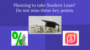 Planning to take student loan